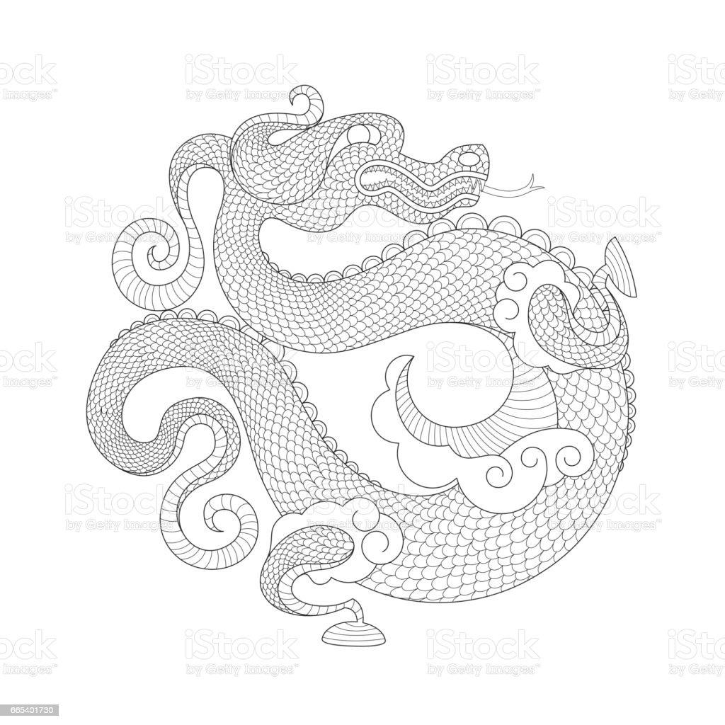 Chinese Dragon Stock Vektor Art Und Mehr Bilder Von Asiatisch Istock