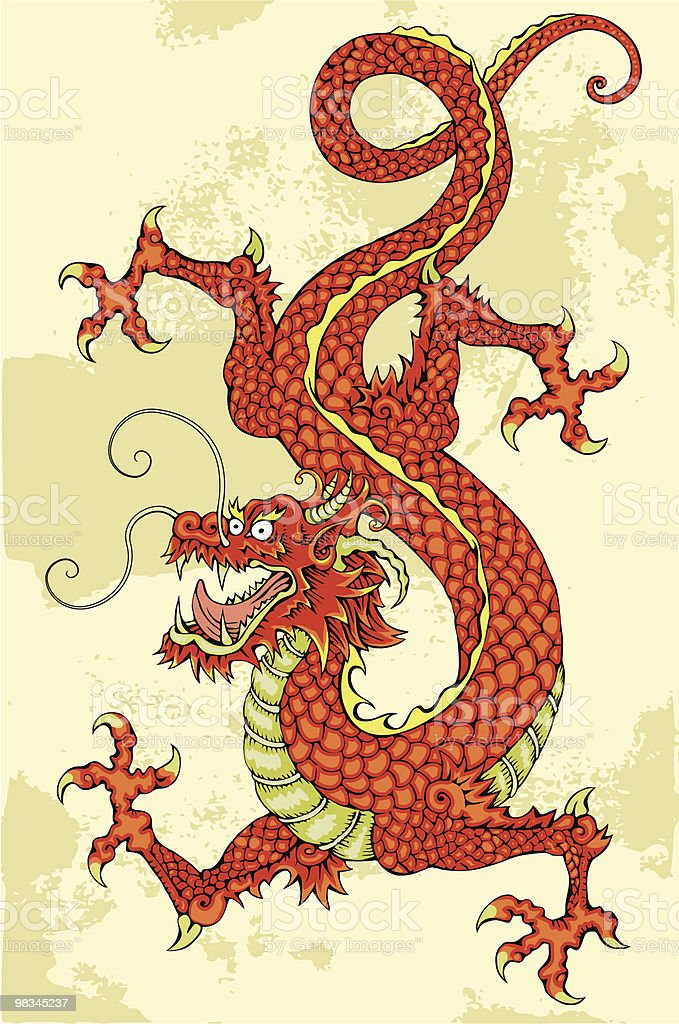 Chinese Dragon royalty-free chinese dragon stock vector art & more images of animal scale