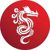 Chinese dragon vector illustration.