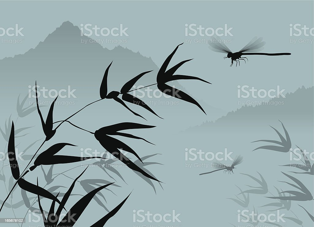 Chinese Dragonfly royalty-free stock vector art