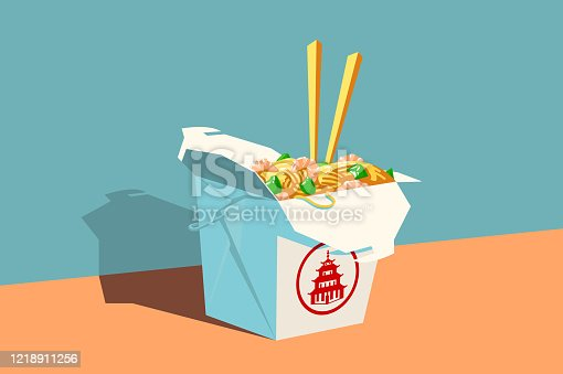 istock Chinese fast food 1218911256