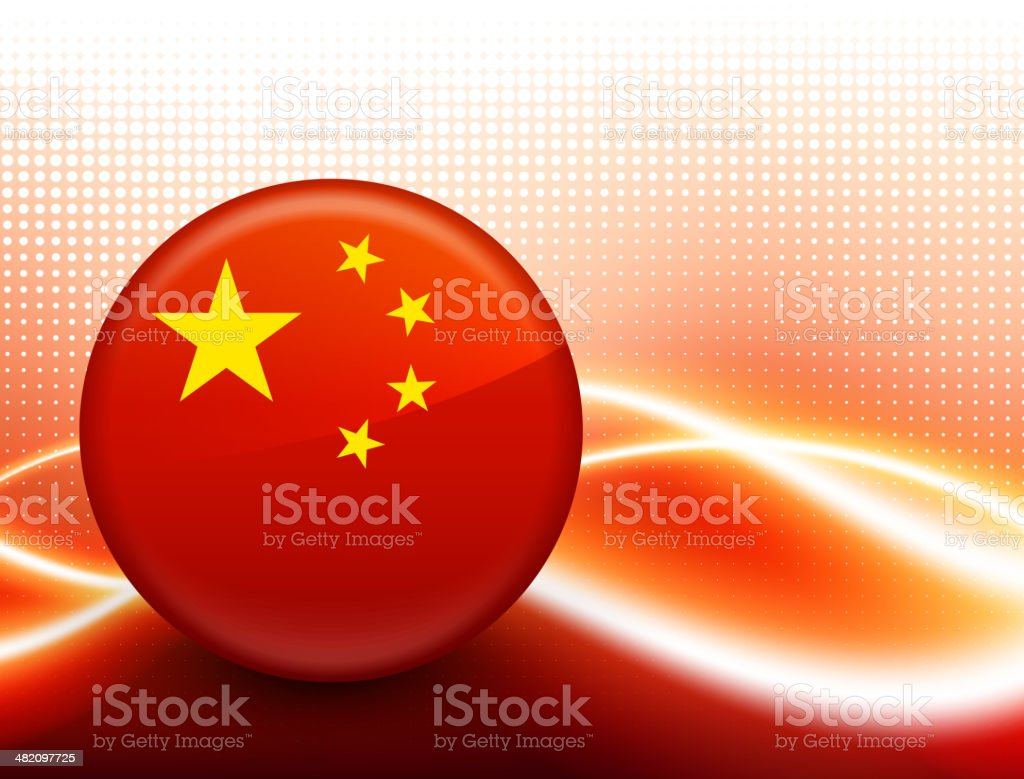 Chinese Flag royalty free vector art on Red Motion Background royalty-free stock vector art