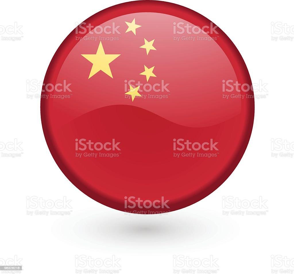 Chinese flag vector button vector art illustration