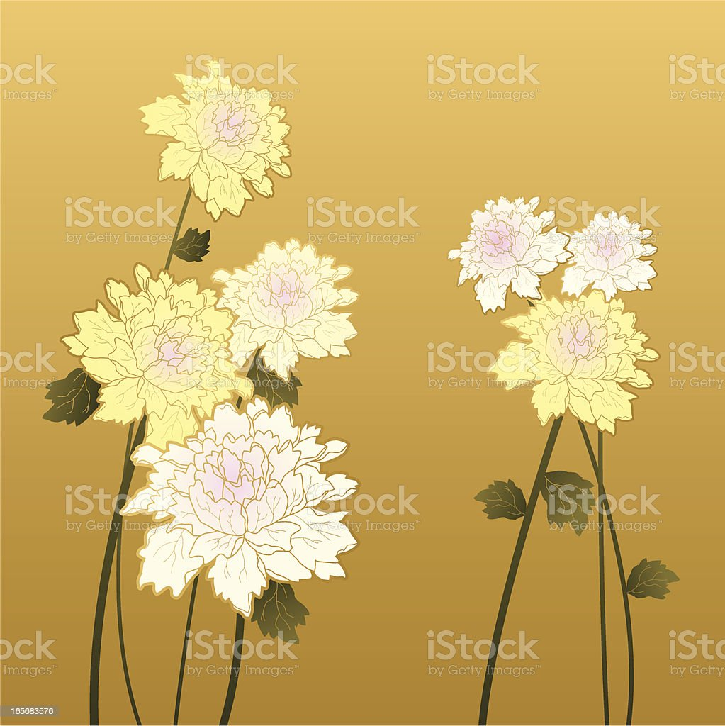Chinese Flower Painting royalty-free stock vector art