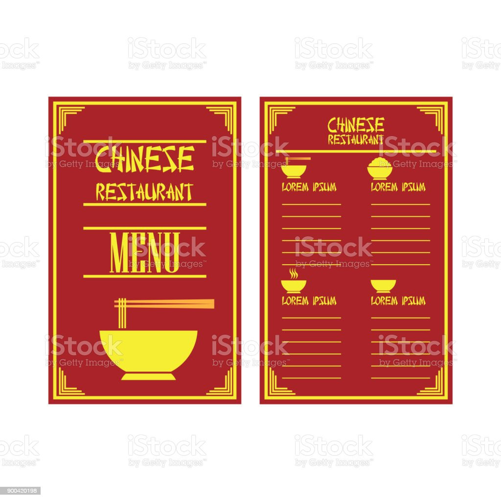 chinese folding menu brochures and flyer for restaurant or cafe