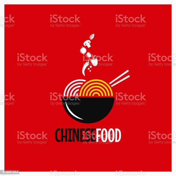 Vetores de Comida Chinesa Macarrão Chinês Ou Massas Em Fundo Vermelho e mais imagens de Alimentação Saudável