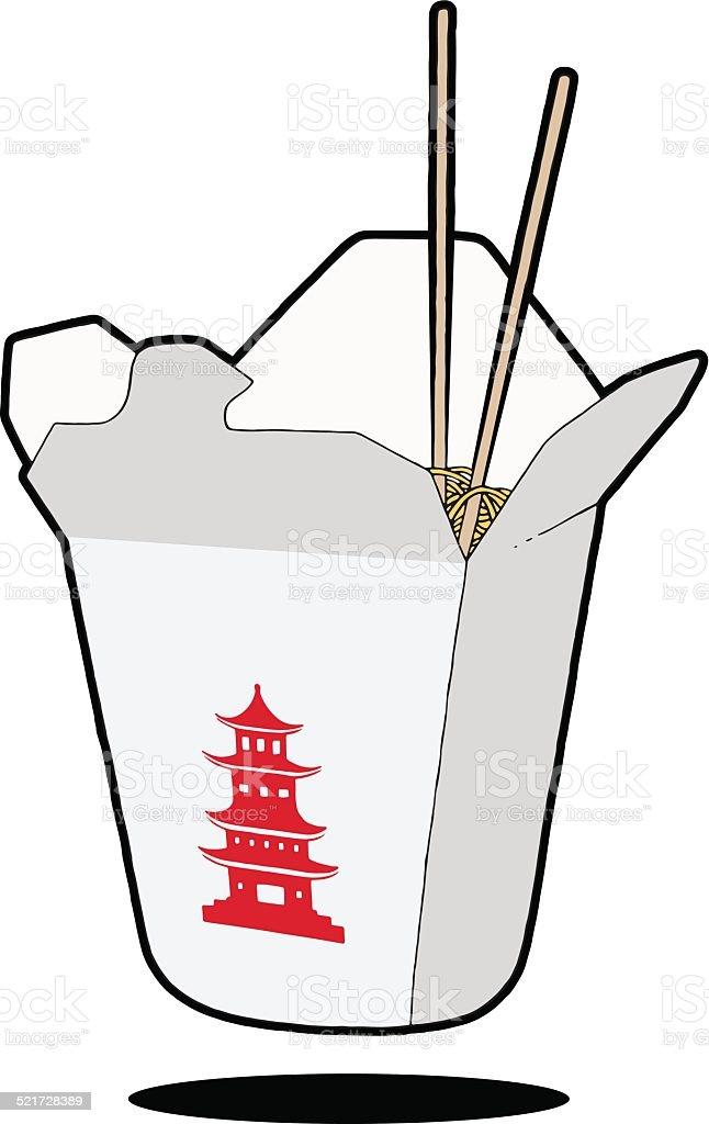 Comida china & de palillos chinos - ilustración de arte vectorial