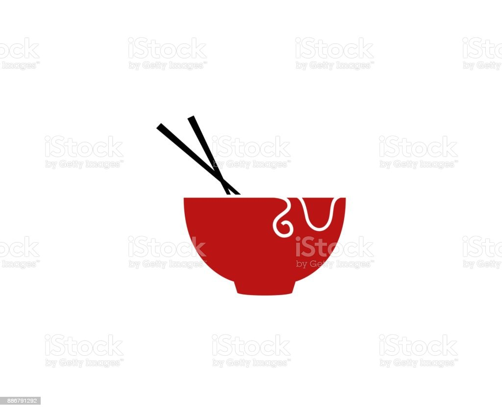 Chinese food icon vector art illustration