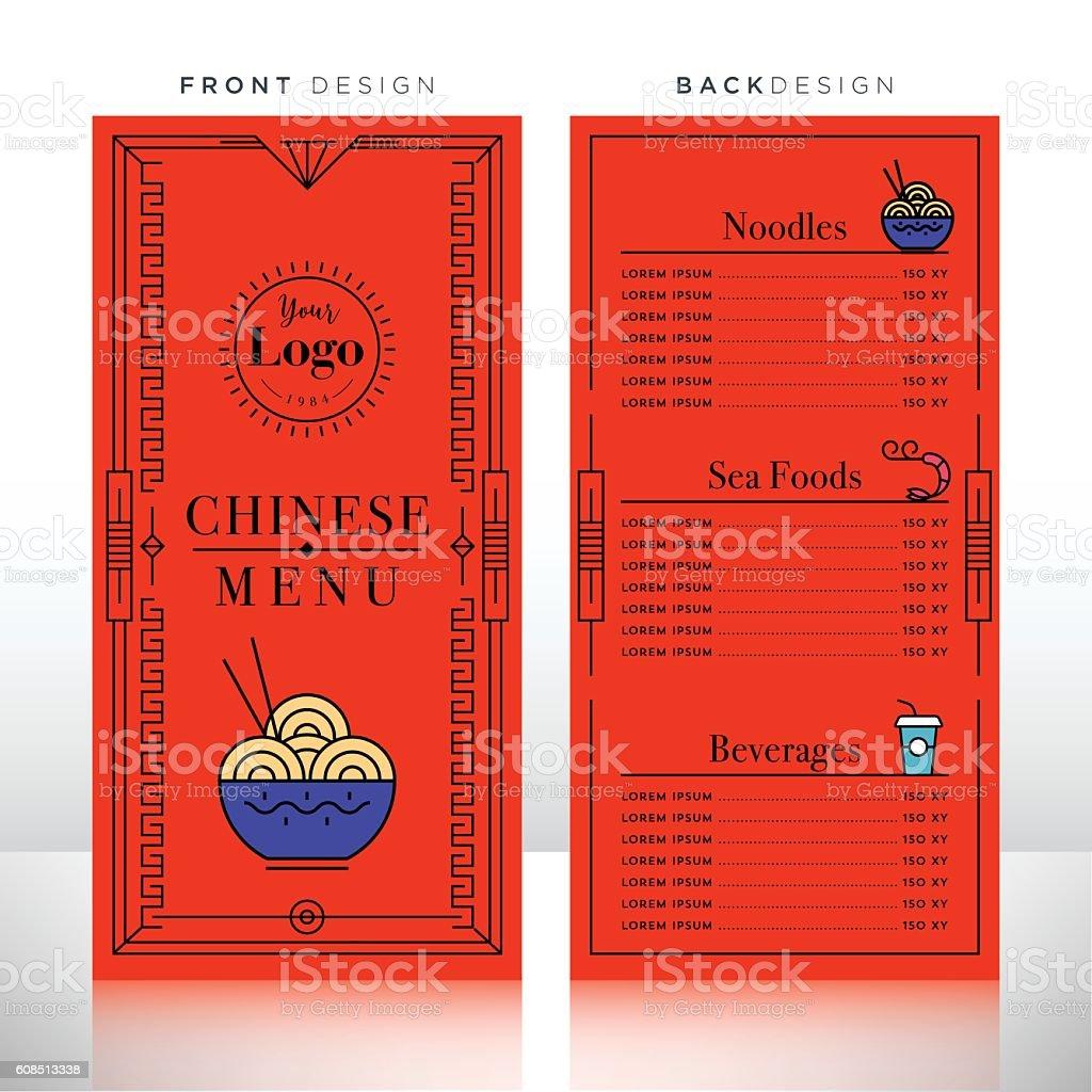 Chinese Food Menu Design Template Stock Vector Art & More ...