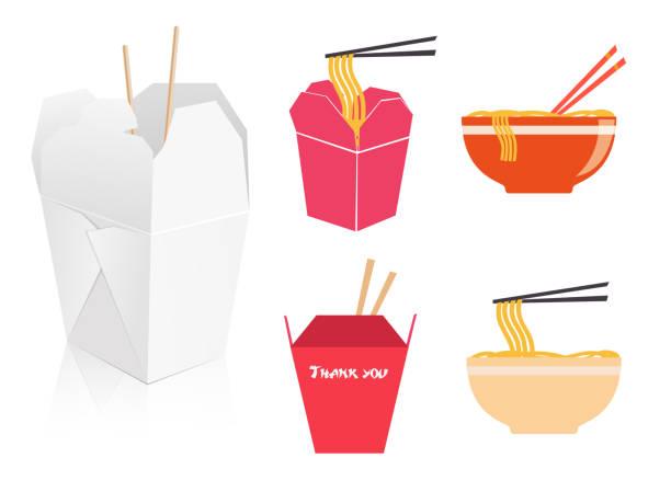 ilustraciones, imágenes clip art, dibujos animados e iconos de stock de comida china - comida china