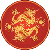 Traditional Chinese Zodiac Dragon. Art for the year of the Dragon 2012.
