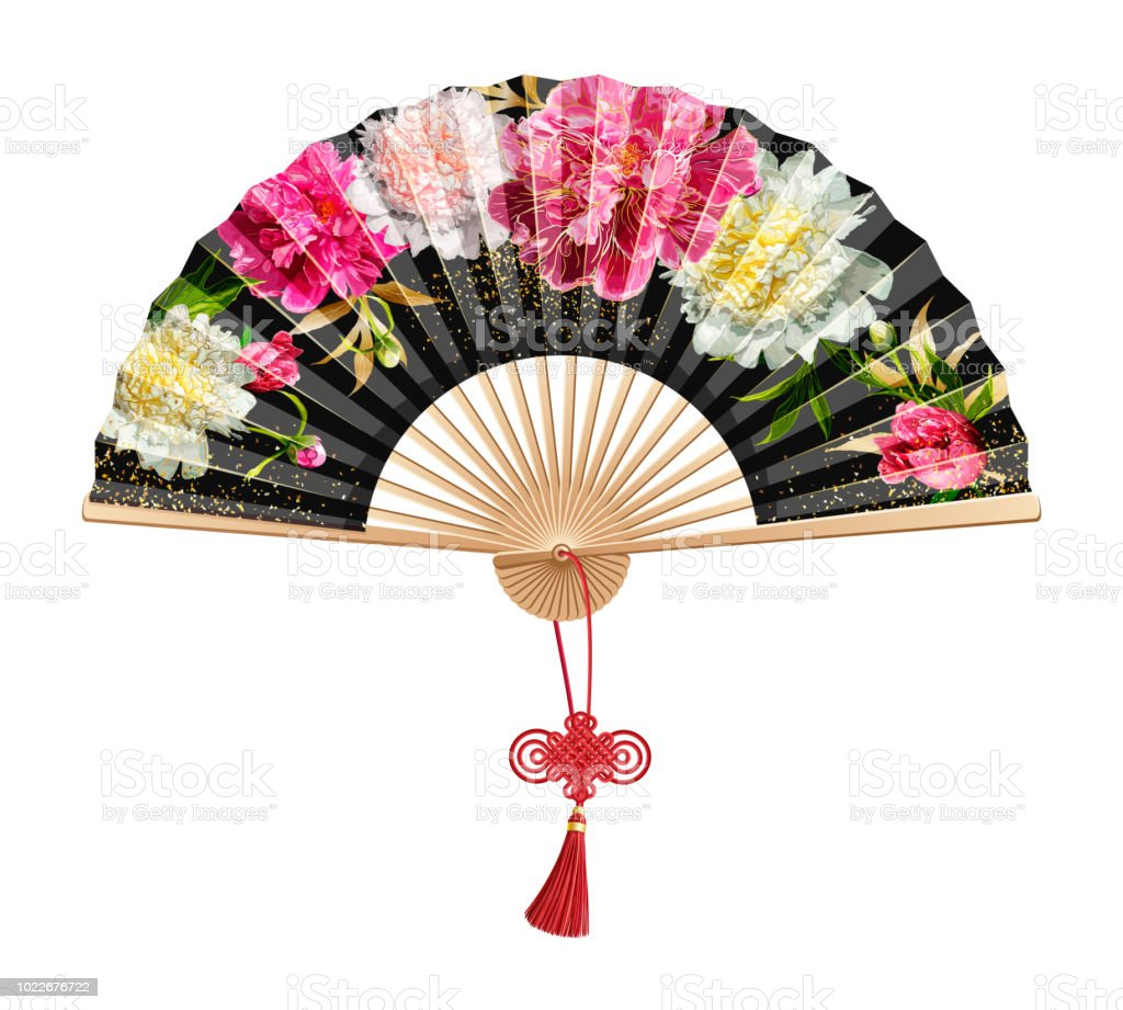 Chinese Hand Fan Stock Illustration Download Image Now Istock