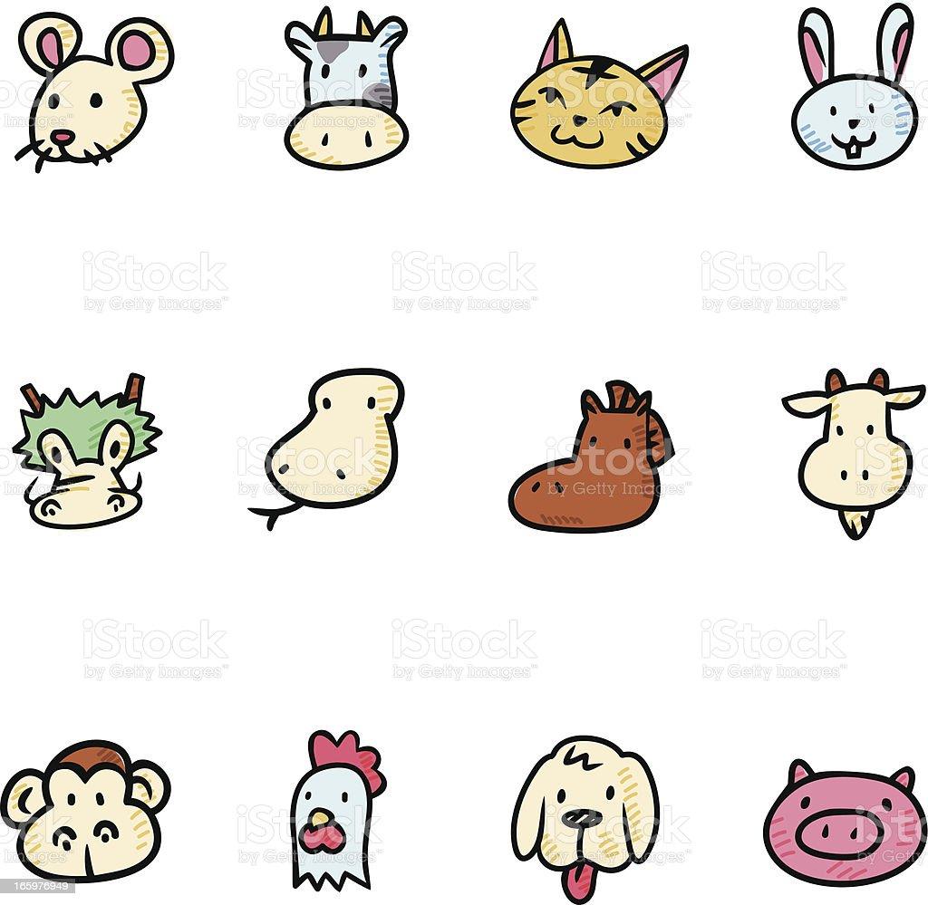 Chinese Horoscope royalty-free stock vector art