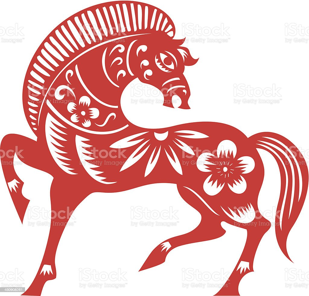 Chinese Horse royalty-free chinese horse stock vector art & more images of 2014