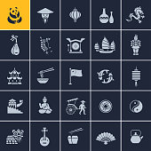 Set of Chinese icons