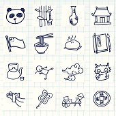 Vector File of Doodle Chinese
