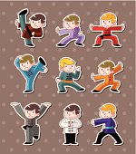 Chinese kung-fu stickers