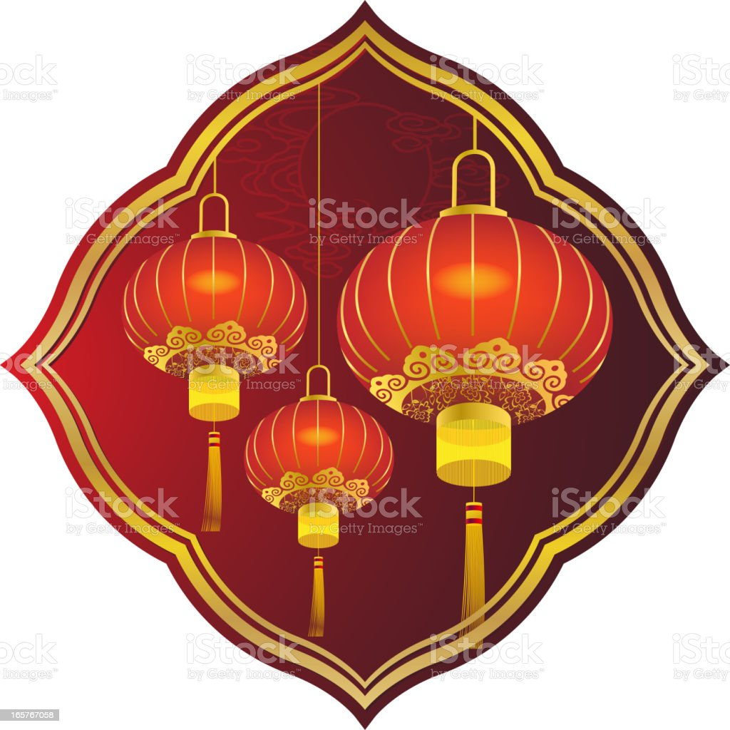Chinese Lantern Art royalty-free stock vector art