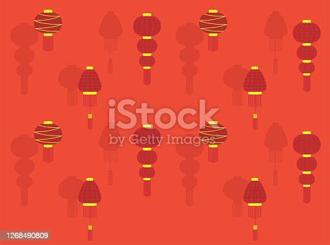 Chinese Lantern Wallpaper EPS10 File Format