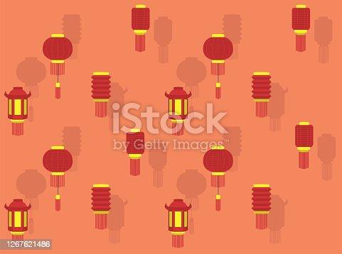 istock Chinese Lantern New Year Various Vector Wallpaper-01 1267621486