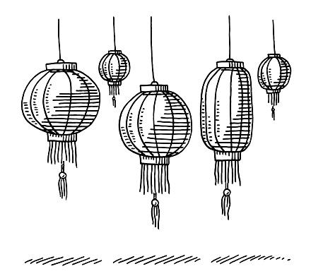 Chinese Lanterns Drawing