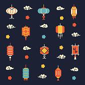 chinese lanterns pattern