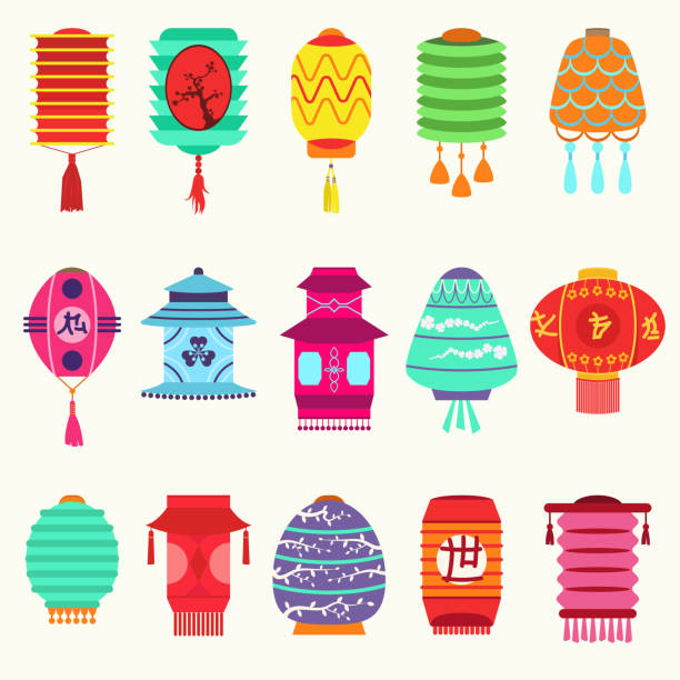 Royalty Free Lantern Festival Clip Art, Vector Images ...