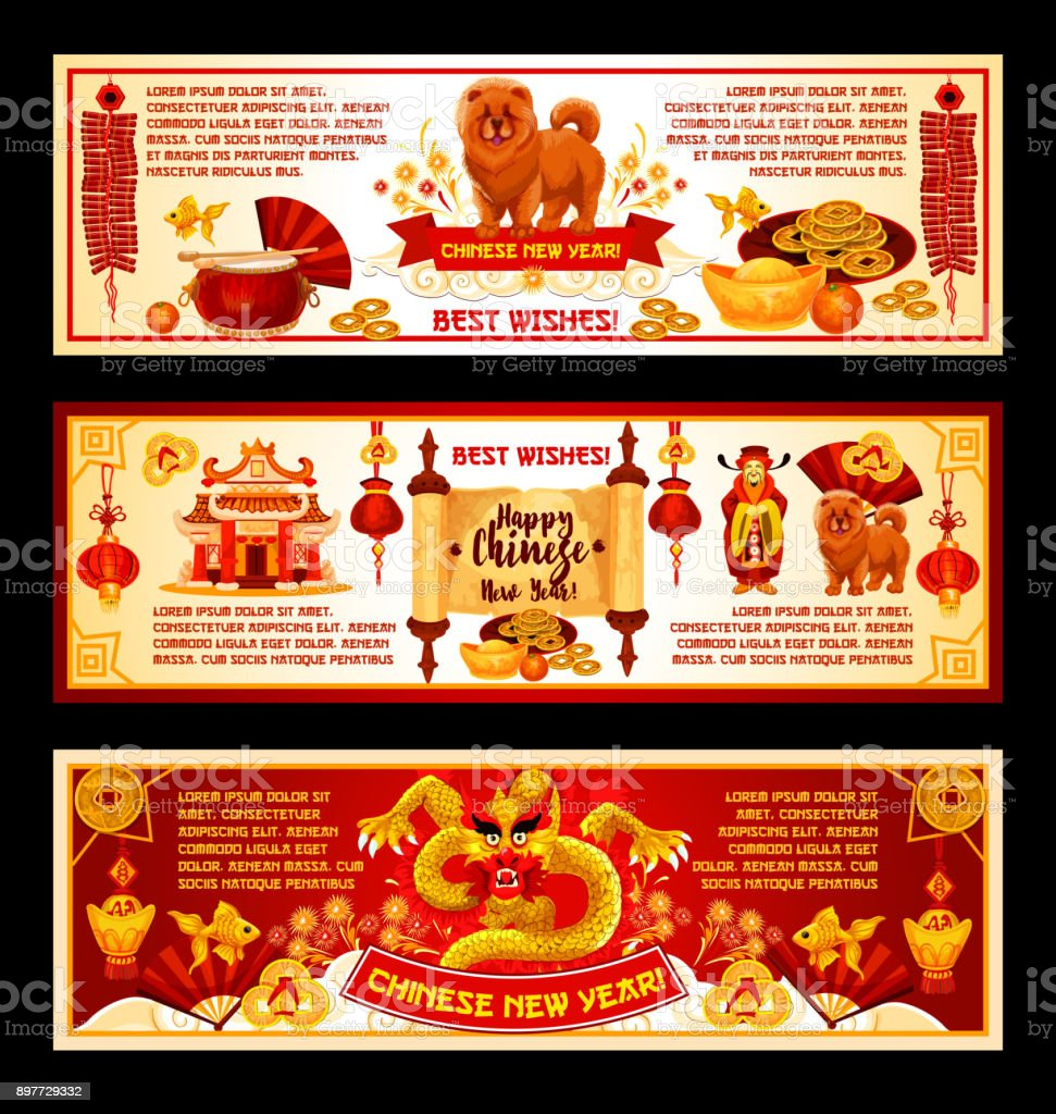 chinese lunar new year greeting banner design royalty free chinese lunar new year greeting banner