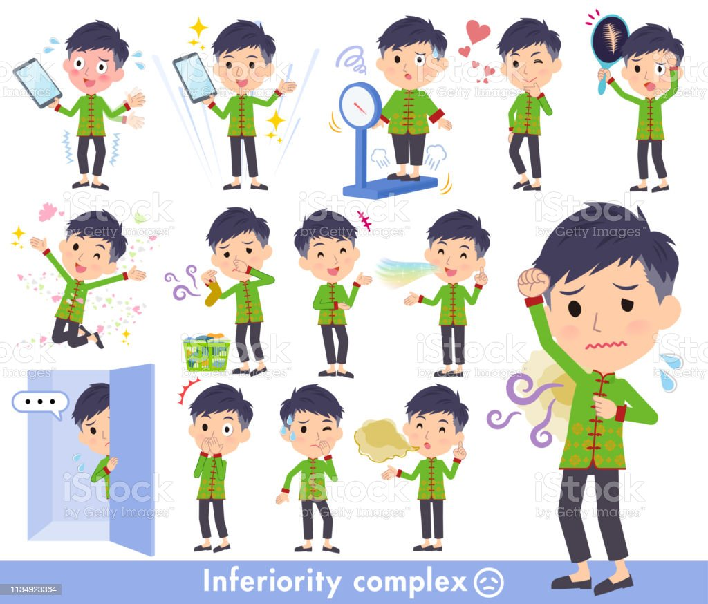 Chinese man_complex vector art illustration