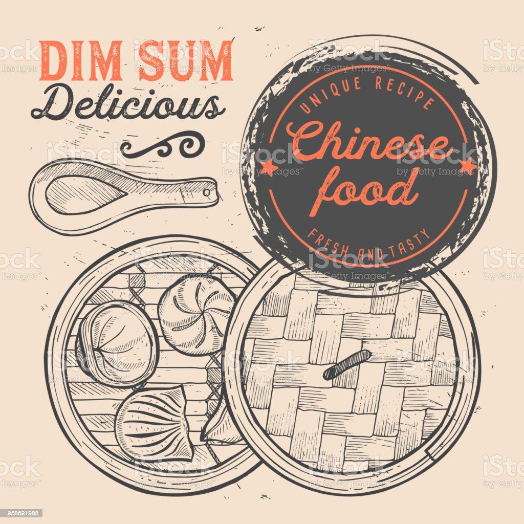 Chinesische Speisekarte Restaurant Dim Sum Essen Vorlage Stock ...