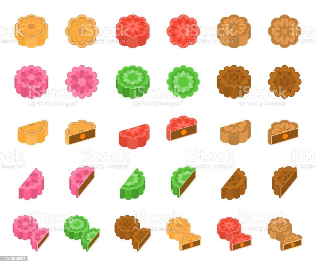 Chinese Mooncake For Mid Autumn Festival In Various Taste