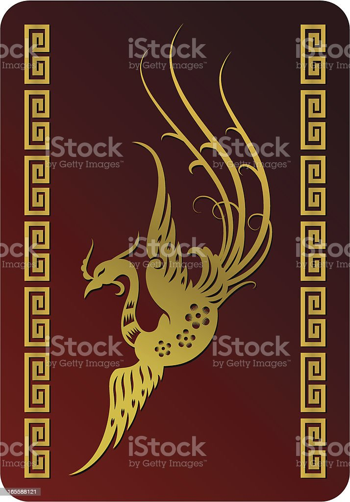 Chinese Mystical Bird (Phoenix) royalty-free stock vector art