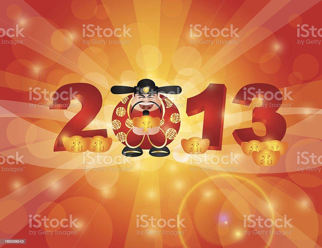 Chinesisches Neujahr 2013 Geld Gott Stock Vektor Art und mehr Bilder ...