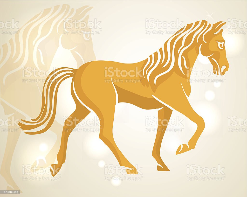 Chinese New Year 2014 Walking Horse Stock Illustration Download Image Now Istock