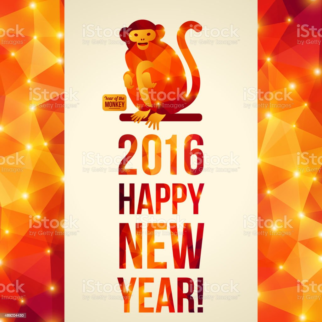 Chinese new year 2016 greeting card year of the monkey stock vector chinese new year 2016 greeting card year of the monkey royalty free chinese m4hsunfo