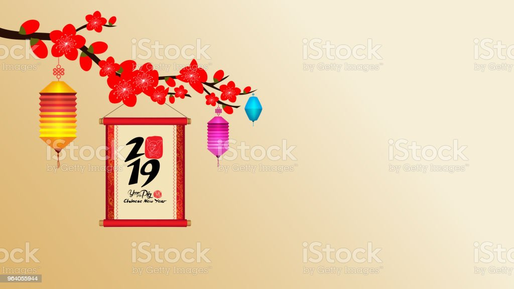 Chinese New Year 2019 With Blossom Wallpapers Year Of The Pig