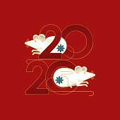 2020 colorful vector Text isolated on red background, Chinese New Year 2020, 2020 text for Chinese Calendar New years, Happy New Year 2020, 2020 Beginning concept, Number 2020, Happy Chinese New Year 2020 Creative Design Concept, Chinese New Year 2020 vector.