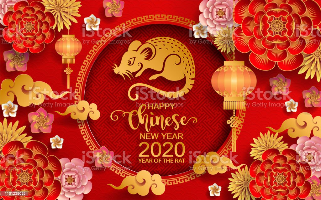Chinese New Year 2020 Dc Chinese New Year 2020 Year Of The Rat Paper Rat Characterflower