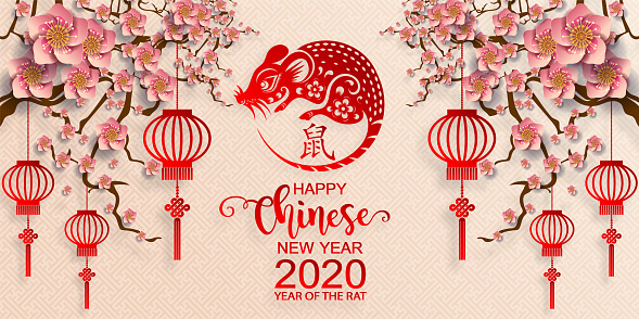 Chinese New Year 2020 Year Of The Rat Paper Rat ...