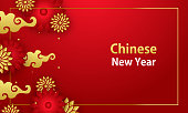 istock Chinese New Year 2021 Year Of The Ox stock illustration 1300293941