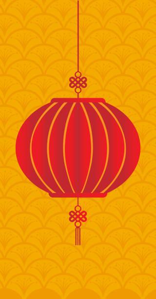 illustrazioni stock, clip art, cartoni animati e icone di tendenza di chinese new year and mid autumn festival with lantern - totem fair