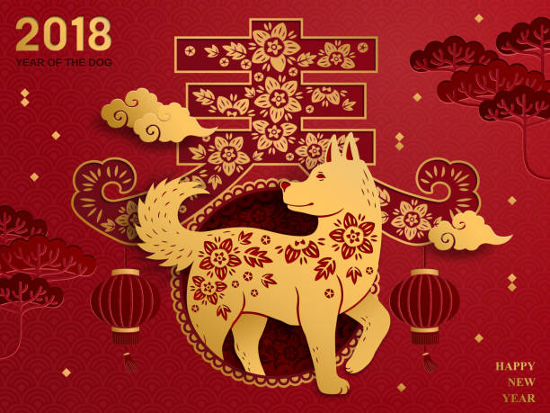 chinese new year art - chinese new year stock illustrations, clip art, cartoons, & icons