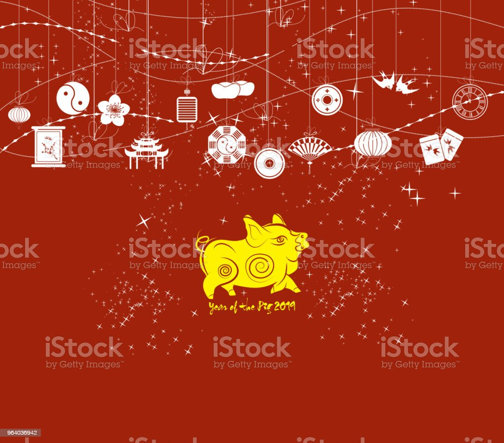 chinese new year background card print year of the pig royalty free chinese