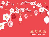 Chinese New Year background,red card print ,vector