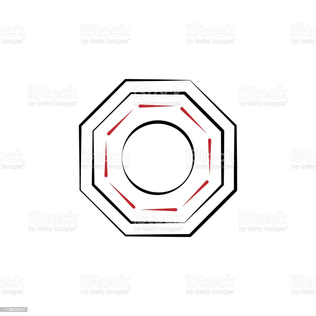 Chinese New Year Bagua Icon Can Be Used For Web Logo Mobile