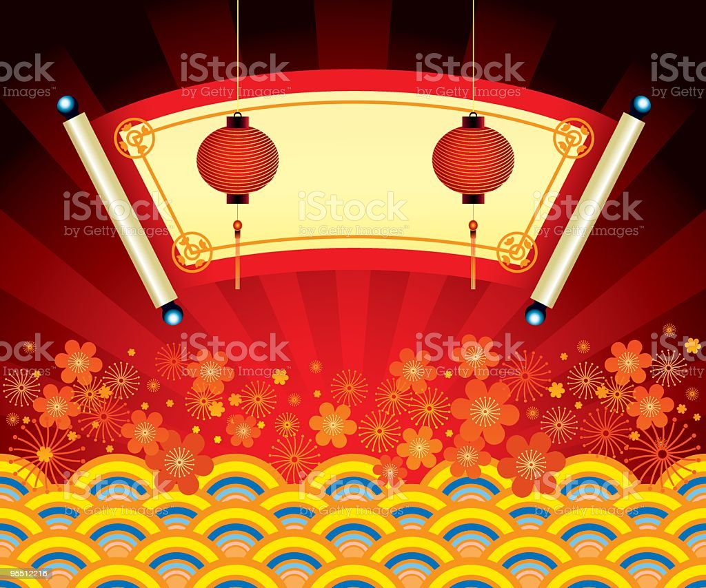 Chinese New Year Banner royalty-free stock vector art