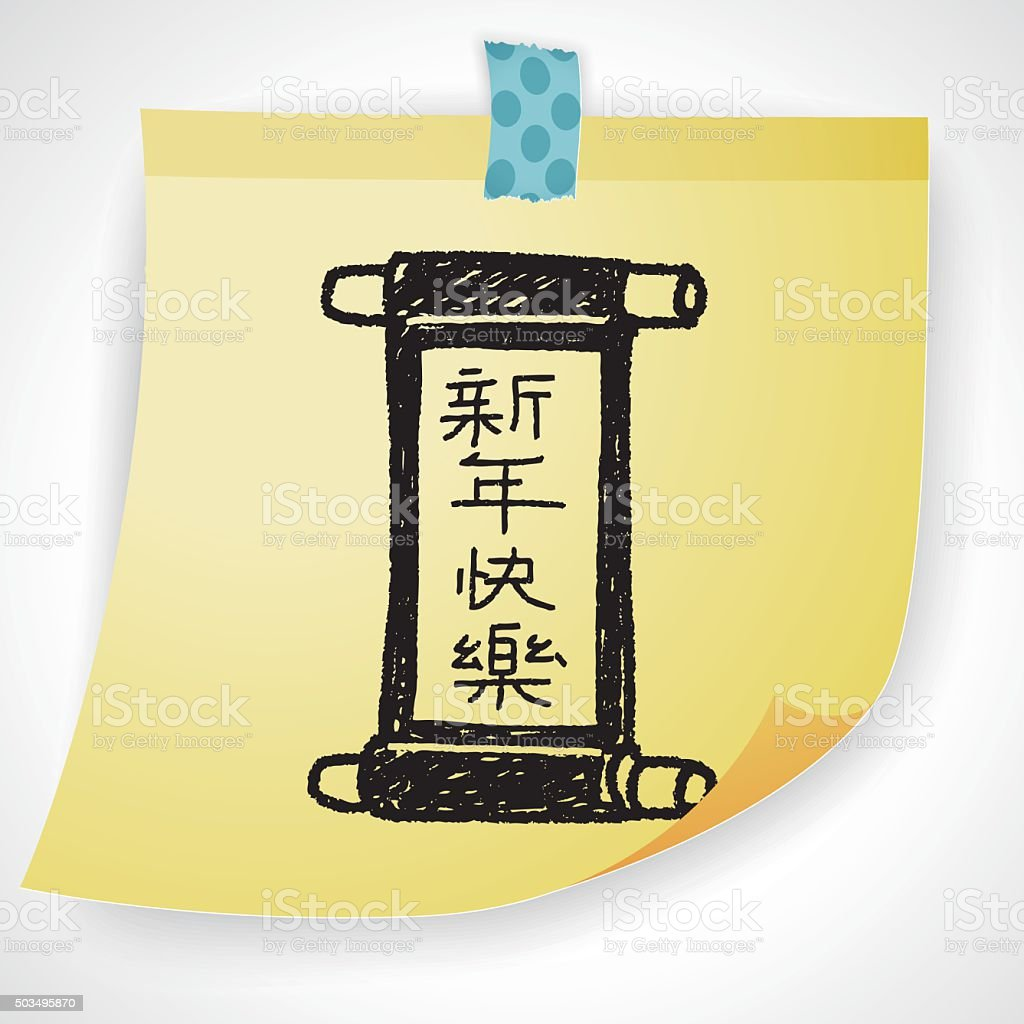 Chinesisches Neujahr Chinesischem Worte Kalligrafie Girlanden ...