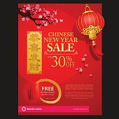 Chinese new year graphic design. Come with layers.