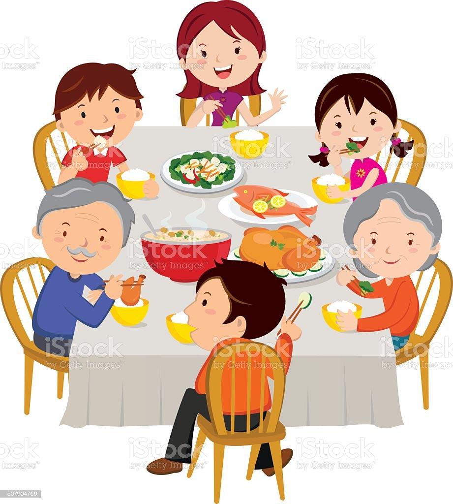 royalty free family dinner table clip art vector images rh istockphoto com family dinner clipart black and white family dinner clipart free