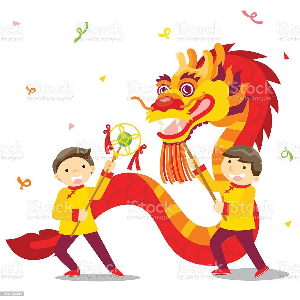 chinese new year festivaldragon dance royalty free chinese new year festivaldragon dance stock